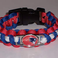 New England Patriots Paracord Bracelet Custom Made