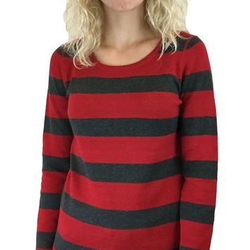 DCCKAB3 Tribal Regalred Reversable Pullover Sweater