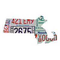 Massachusetts License Plate wall decal