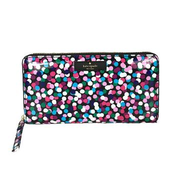 VONL8T Kate Spade Dance Party Dot Daycation Neda Continental Zip Wallet, Multi