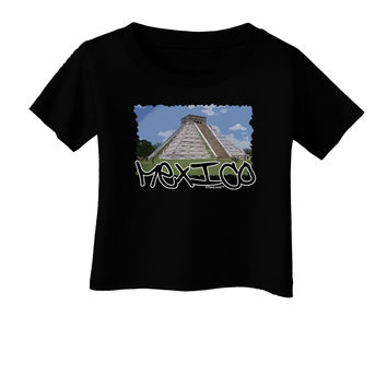 Mexico - Mayan Temple Cut-out Infant T-Shirt Dark