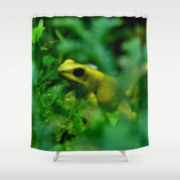 Green Frog Shower Curtain by UMe Images
