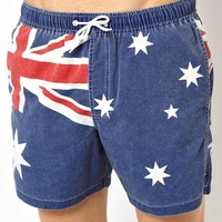 ASOS Swim Shorts With Australia Flag