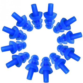 New 6 Pair Professional Waterproof Silicone Swimming Ear Plugs Anti-noise Soft Ear Plug for Adult Kid Diving Surfing