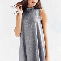 Silence + Noise Shimmer Swing Mock-Neck Dress
