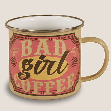 Bad Girl Coffee Enamel Mug