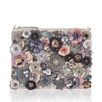 Accessorize | Posey Floral Ziptop Clutch Bag | Multi | One Size