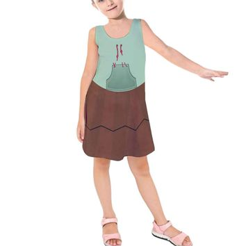 Kid's Vanellope Von Schweetz Wreck-It Ralph Inspired Sleeveless Dress