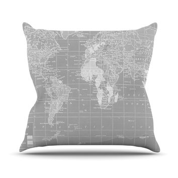 "Catherine Holcombe ""The Olde World"" Outdoor Throw Pillow"