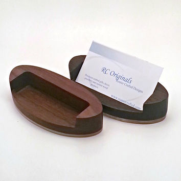 Modern Wood Business Card Holder