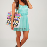 Simply Into You Dress: Mint
