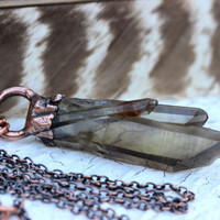 Smoky Quartz Crystal Necklace Crystal Cluster Necklace Quartz Cluster Necklace Crystals and Stones Natural Crystal Raw Crystal Necklace