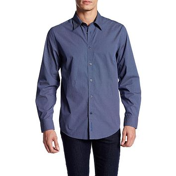 Ben Sherman - Micro Dot Print Mens Button-Up Long Sleeve Shirt