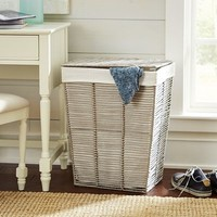 Gray Paper Rope Laundry Hamper