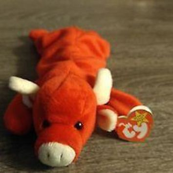 Beanie Baby Tabasco (Retired) with Error Tags Original 1995 PVC Pellets