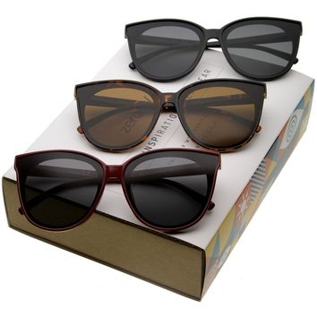 Women's Oversize Infinity Lens Cat Eye Sunglasses C340 [Promo Box]