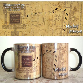 Harry Potter Marauder Map Color Changing Mug