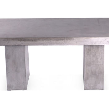 Elwood Dining Table, Silver