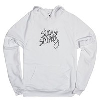 Stay Strong-Unisex White Hoodie