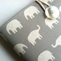 MacBook Air 13 Case Padded Laptop Sleeve Cover - Elephants