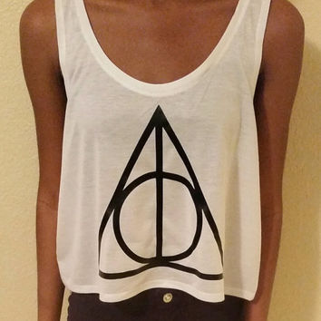 Harry potter Inspired Always Symbol Boxy Crop Tank Top