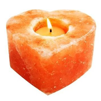 Himalayan Salt Heart Candle Holder