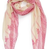 BP. Lace Print Woven Scarf (Juniors)