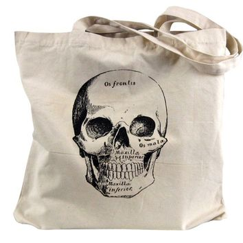 Skull Tote Bag - Medical Anatomical Skull Bag
