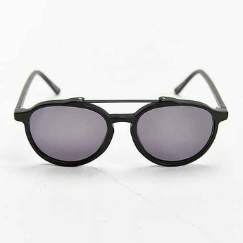Profound Aesthetic X UO Black Brow Bar Aviator Sunglasses- Black One