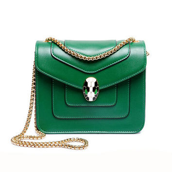 Chain PU Leather Crossbody Bag