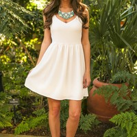 EVERLY:Smooth Transition Dress-White