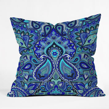 Aimee St Hill Paisley Blue Throw Pillow