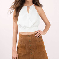 Front Row Halter Crop Top