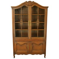Pre-owned Vintage French Country Louis XV Style Cabinet