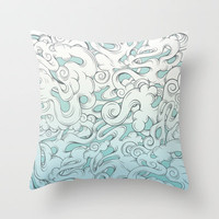 Entangled Clouds Throw Pillow by Mat Miller | Society6