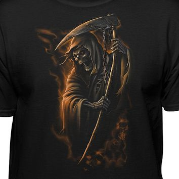 Grim Reaper With Scythe and Chains T-Shirt