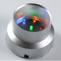 Multicolor LED Plastic Light Base/Stand Crystal Ball Display Base