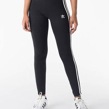 Adidas Women Fashion Stretch Leggings Sweatpants Exercise Fitness Sport Pants Trousers