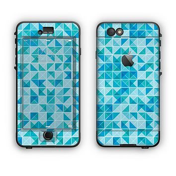 The Abstarct Blue Triangular Cubes  Apple iPhone 6 LifeProof Nuud Case Skin Set