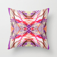 Blueberry Cream Throw Pillow by Glanoramay