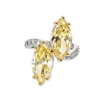 Yellow Zircon Ring Jewelry Set