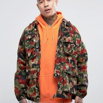 Reclaimed Vintage Revived Military Camo Jacket at asos.com