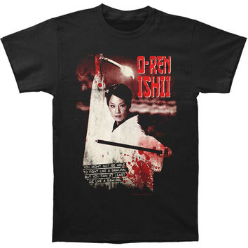 Kill Bill Men's  O-Ren Ishii Slim Fit T-shirt Black Rockabilia