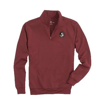 Florida State Gameday Performance Skipjack 1/4 Zip Pullover in Chianti by Southern Tide