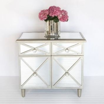 Claude Chest Side Table Mirrored From Clayton Gray Home Storage