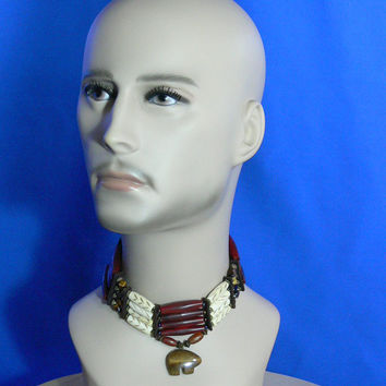 Native American Choker - Stone & Bone - MG-004