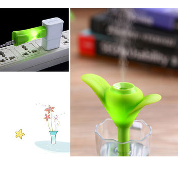 Green Portable Mini USB Clover Humidifier