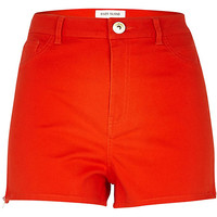 River Island Womens Red high waisted stretch shorts