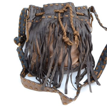 Fringe Boho Bag - Brown