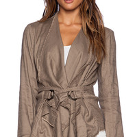 Free People Drape Jacket in Taupe